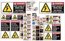 Machinery Sticker Sets For Excavator 25T+ 35 Assorted Decals MS009
