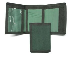 Nylon Trifold Credit Card Wallet with ID window - Green