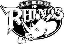 Leeds Rhinos Rugby Auto Moto 4x4 Ventana Carrocería Pegatina de Vinilo Calcomanía Parachoques 4x4