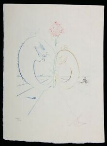 SALVADOR DALI Etching BABAOUO SERIE SIGNED 1978 Japan Paper