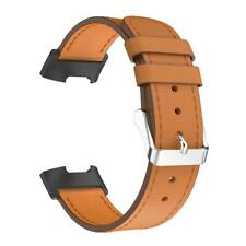 For Fitbit Charge 3 Classic Leather Adjustable Watch Band Bracelet Wrist S #BU
