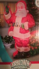 7 ft  photorealistic Santa airblown inflatable photoreal lifelike w bag of toys