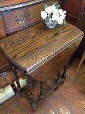 Oak Folding Oval Side & End Tables
