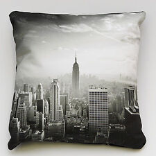 New York luxury cushion cover 100% cotton black twill backing