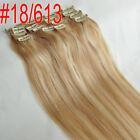 Full Head Set Clip In 100% Human Remy Hair Extensions 7PCS 70g 80g 100g 120g