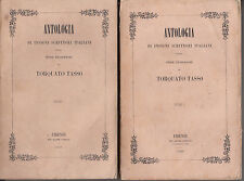 LETTERATURA FILOSOFIA TASSO TORQUATO PROSE FILOSOFICHE 1847 ALCIDE PARENTI