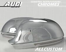 COQUILLE COUVRE RETROVISEURS CHROME pour AUDI A3 S3 A4 B8 A5 S5 A6 SLINE QUATTRO