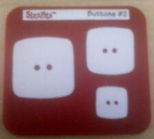 Sizzix Sizzlits botones #2 DIE Cutter se adapta a Big Shot & Cuttlebug & Wizard