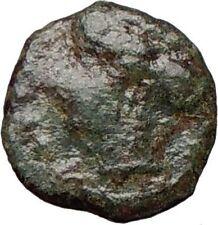 HIMERA Sicily 420BC Ancient Greek Coin Nymph & LAUREL WREATH of success   i25037