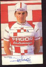 THIERRY PELOSO cp cyclisme carte signée dedicacée FAGOR