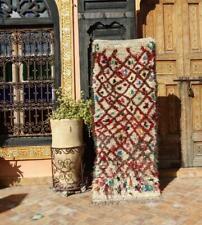 "Vintage Moroccan Rug Azilal Rug  Wool Rug Berber Rug 5'2"" x 1'11''"