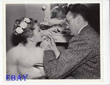 Joan Fontaine gets make-up done VINTAGE Photo Muddled Deal candid 1930