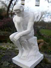 RE0007 §   FIGURINE SCULPTURE BLANCHE  REPRODUCTION LE  PENSEUR  AUGUSTE  RODIN