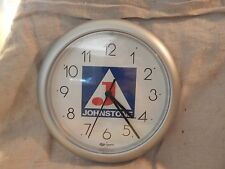 "Vintage Johnstone Wall Clock Automotive 10"" Advertising"