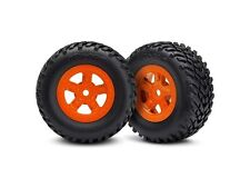 Traxxas Reifen auf Felge (SCT orange 1 Paar re/li) - TRX7674A