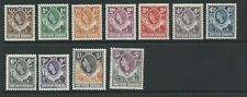 1953 H.R.H. The Queen Elizabeth II Part set 11 Mint Hinged Note 5s Fine Used