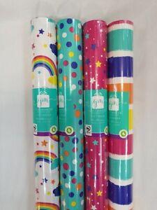 4 x 3M x 69cm Rolls Of Gift Wrap Paper  Unisex GW20F