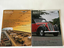 Bonhams Auction Catalog LOT Americas Car Lemay Museum 2 Volume Set 2009-2010 RM