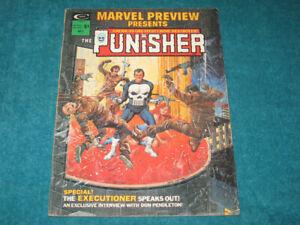 1975 Marvel Preview Magazine #2 1st Origin of The Punisher + Howard Chaykin