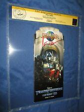 TRANSFORMERS CGC SS Signed Universal Studios Park Map ~ PETER CULLEN / OPTIMUS