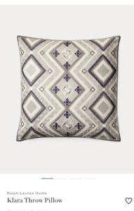Ralph Lauren Dover Street Klara Throw pillow retail $285