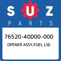 76520-40D00-000 Suzuki Opener assy,fuel lid 7652040D00000, New Genuine OEM Part