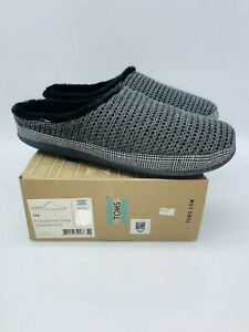 TOMS Women's Ivy Sweater Knit Slip On Slippers Forged Iron Grey - Pick Size