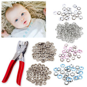Snap Popper Press Studs Fasteners Prong Pliers Ring Tool DIY Sewing Baby Clothes