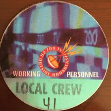 U2 - Zoo TV Tour - satin backstage pass working personnel promoter#41-blue&green