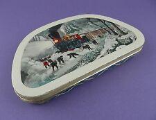 Edward Sharp Vintage, Shaped Toffee Tin - Railway Locomotive, Clearing Snow