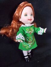Barbie -  Kelly Doll - Friends of the World - Red Haired - Irish Dancing Doll