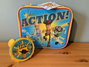 Toy Story 4 Lunch Bag Box Woody Buzz Bo Beep Insulated WITH SNACK POT NEW Tags