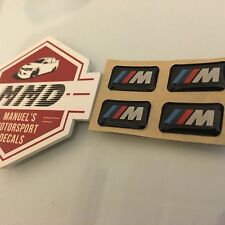 4 X M TEC STICKER BADGE BMW MTEC 1 3 5 6 7 X SERIES TECH DASH WHEEL RIM INTERIOR