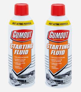 2pk~Gumout STARTING FLUID 11 oz. Gasoline Engines Lubricates Fast Acting 5072866