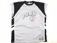 Vintage 90's Fubu 05 Black Grey Allstar Jersey Men's Size 2Xl