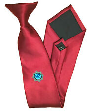 Red Security Officer 'Clip-on' Tie With SIA Logo, CCTV, Close Protection