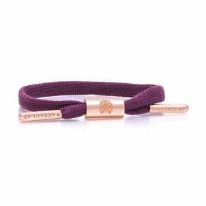 RASTACLAT Women's Erica Wine Single Lace Miniclat Wristband Bracelet Jewelry NEW