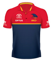 Adelaide Crows 2020 Performance Polo Mens Small - 5XL Navy/Red/Gold AFL ISC New