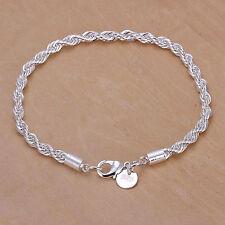 Cool Wrist Women Chain Sexy Twist Fashion Silver Plated Bangle Gift Bracelets t