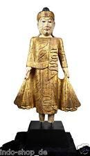 Edel XXL Buddhastatue aufwendiges Oberflächenfinish Antiklook Holz Wohnraumdeko