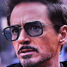 Vengadores Hombre Gafas de Sol Moda Cuadrado Retro Marco Espejo & Humo Lente UV