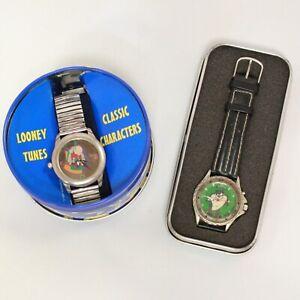 2 x Vintage Retro Warner Bros Looney Tunes TAZ Tasmanian Devil Watch BOXED -232