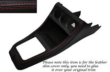RED STITCH CENTRE CONSOLE LEATHER SKIN COVER FITS VW GOLF MK1 JETTA CADDY MK1