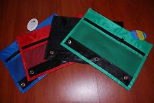 LOT OF 4PC BINDER PENCIL BAG PENCIL POUCH PENCIL CASE FREE SHIPPING