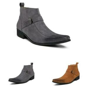 Western Mens Work Ankle Boots Shoes Formal Business Pointy Toe Banquet Winter L