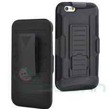 """Custodia cover stand Sliding Rugged per iPhone 6 4.7"""" 6S clip case cintura NERA"""