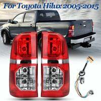 Pair Rear Tail Light Lamp W/ Wiring Harness For Toyota Hilux SR SR5 7 Gen 05-15