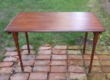 ANTIQUE WOOD SEWING TABLE folding CLIPPER Paris style wooden & portable w/ruler