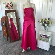 Mari Gourlay Hot pink strapless pleated A Line dress size 10 Womens BNWT
