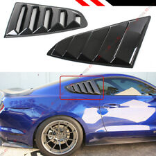 For 15-2020 Mustang Carbon Fiber Look Rear Window 1/4 Quarter Scoop Louver Cover
